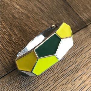 Mod Style Shades Of Green Clamper Style Bracelet